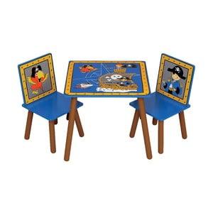 Dětský stůl a 2 židle Pirates