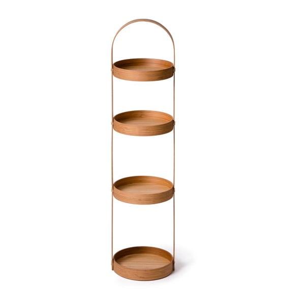 Kulatý čtyřpatrový stojan do koupelny Caddy Bamboo