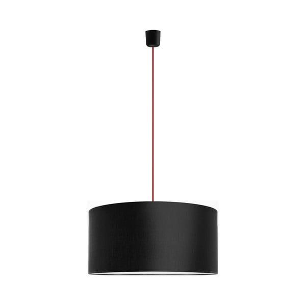 Závěsné svítidlo Tres 50 cm, červená/černá