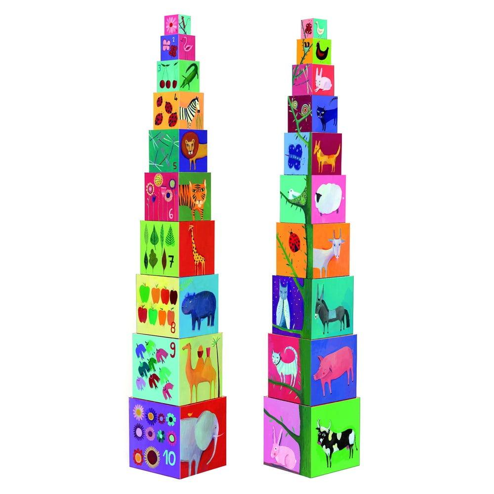 Krabičková věž Djeco Příroda a zvířátka