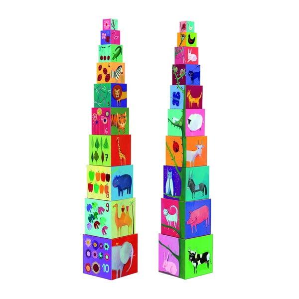 """Cuburi de construcții Djeco """"Natură și animale"""""""