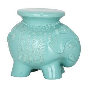 Tyrkysový keramický stolek Elephant