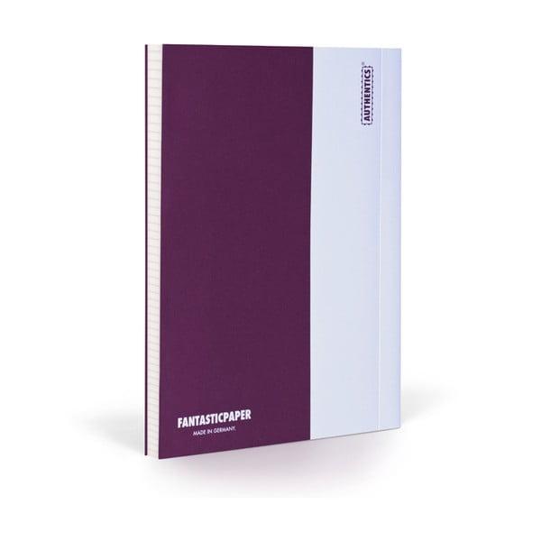 Zápisník FANTASTICPAPER XL Aubergine/White, čtverečkový