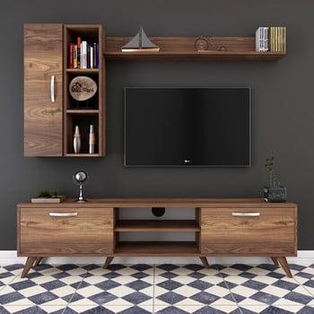 Set comodă TV și rafturi și dulap de perete Wren, natural imagine