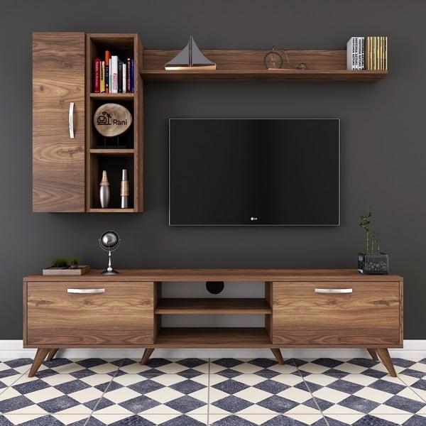 Zestaw komody pod TV, półki ściennej i szafki Wren