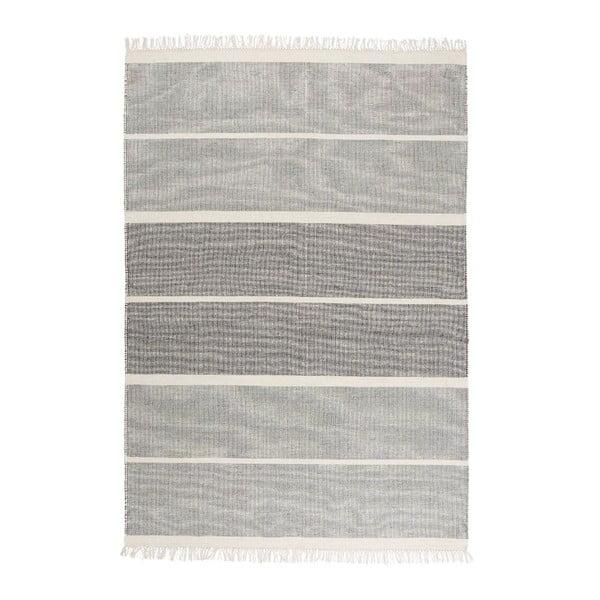 Šedomodrý ručně tkaný vlněný koberec Linie Design Reita, 160x230cm