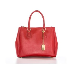 Červená kabelka z pravé kůže Federica Bassi Ally