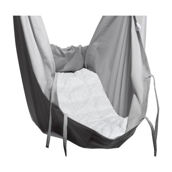 Malá šedá kolébka z bavlny se zavěšením do dveří Hojdavak Baby, 0-9měsíců