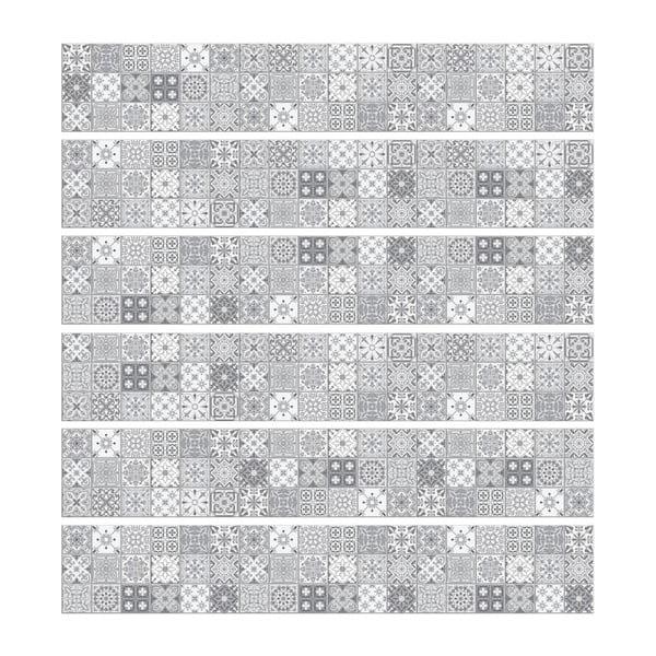 Sada 6 nástěnných samolepek Ambiance Stickers Friezes Tiles Lia, 5 x 30 cm
