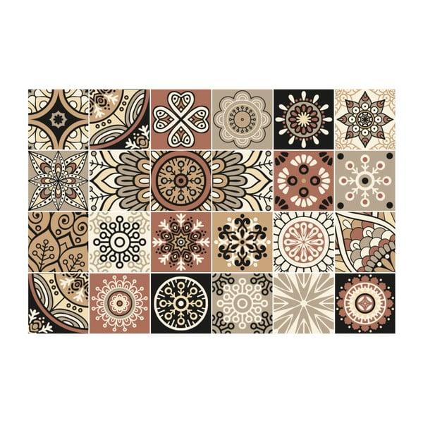 Set 24 autocolante de perete Ambiance Tiles Piura, 15 x 15 cm