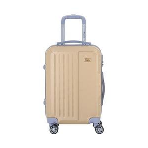 Cestovní kufr na kolečkách v barvě šampaň s kódovým zámkem SINEQUANONE Iskra, 44l