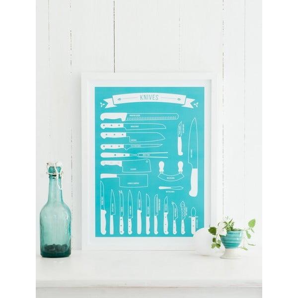 Plakát Follygraph Knives Turquoise, 70x100 cm