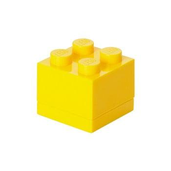 Cutie depozitare LEGO® Mini Box Yellow, galben imagine