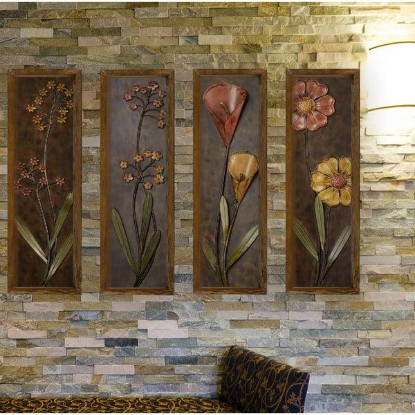 4dílný nástěnný obraz Dark Flower