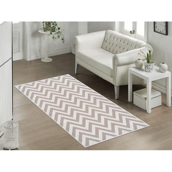 Béžový odolný koberec Vitaus Zikzak Bej, 100 x 150 cm