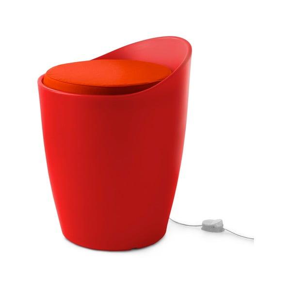 Světelná stolička Otto, červená