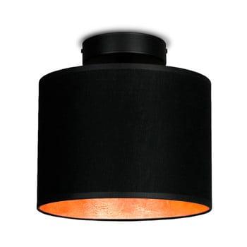 Plafonieră cu detalii arămii Sotto Luce MIKA Elementar XS CP, ⌀20cm, negru de la Sotto Luce