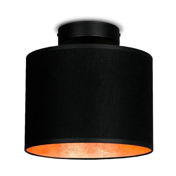 Czarna lampa sufitowa z detalem w miedzianym kolorze Sotto Luce MIKA Elementar XS CP