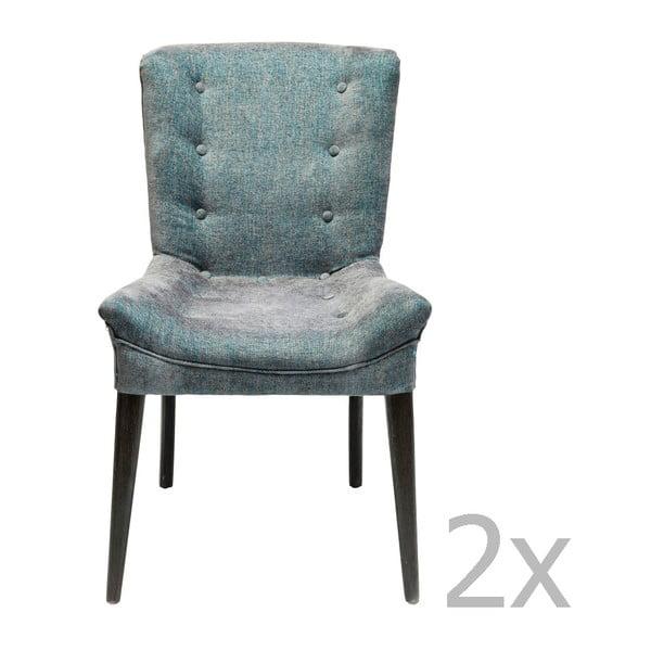 Sada 2 tmavě modrých jídelních židlí Kare Design Stay