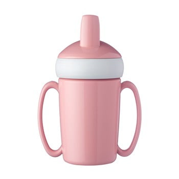Sticlă pentru copii Rosti Mepal Trainer Mug, roz imagine