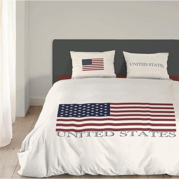 Povlečení USA, 200x200 cm, bílé