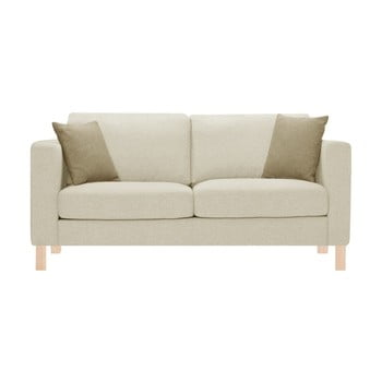 Canapea pentru 3 persoane Stella Cadente Maison Canoa crem, cu 2 perne bej