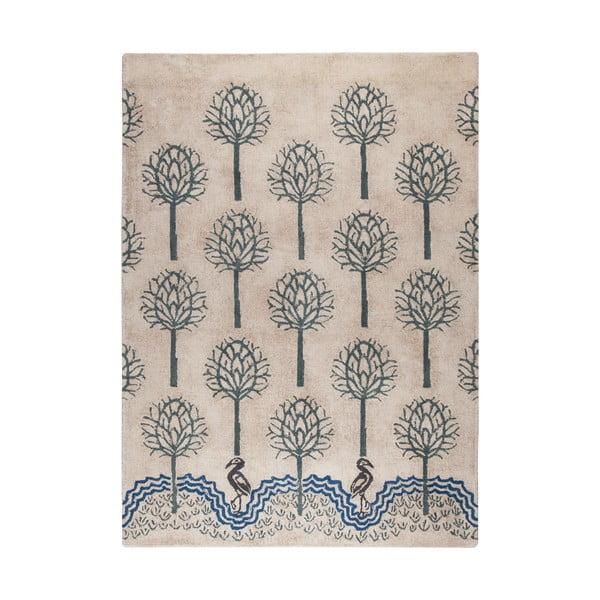 Béžovo-modrý ručně tkaný koberec Flair Rugs Heron, 160x230cm