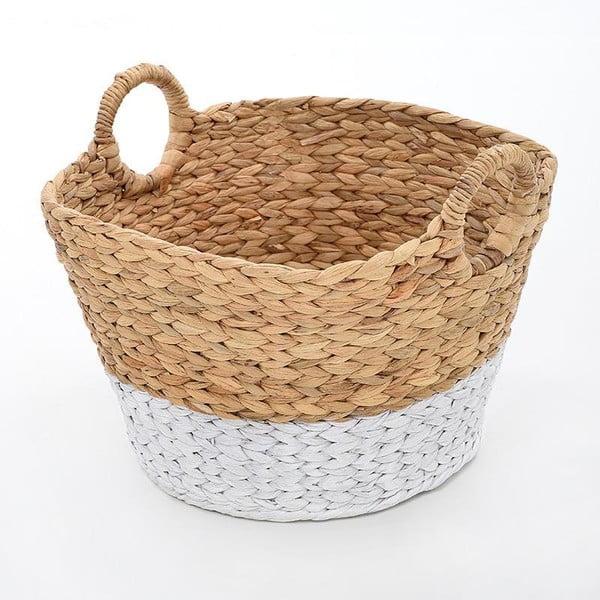 Proutěný koš Beige/White, 30x20 cm