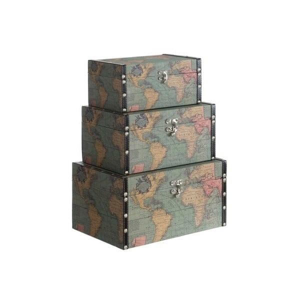 Set 3 boxů Cosas de Casa Mapa světa