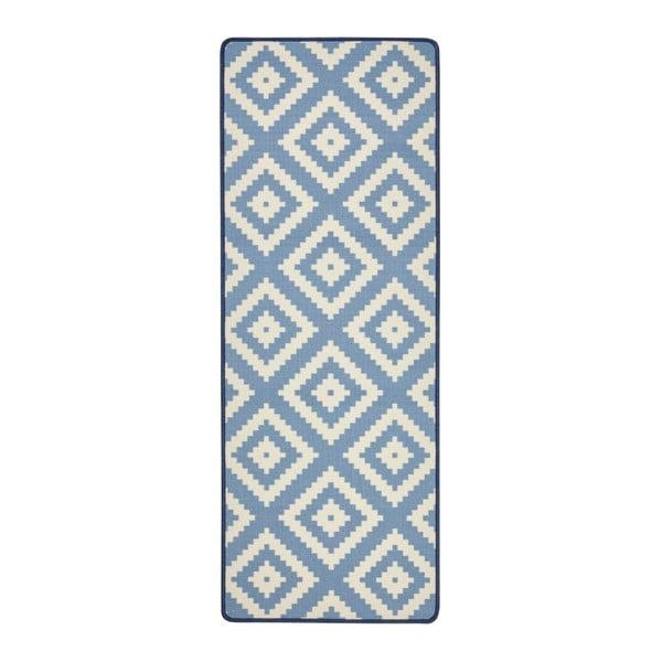 Modrý kuchyňský běhoun Hanse Home LoopDiamond, 67x180cm