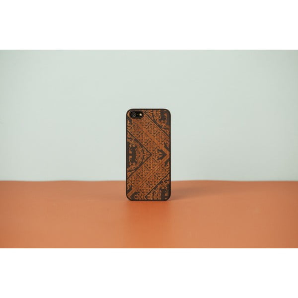 Dřevěný obal na iPhone 5/5S Maiolica, black
