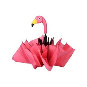 Růžový skládací deštík Ego Dekor Flamingo, ⌀ 96,5 cm