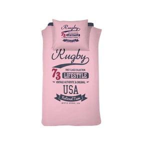 Povlečení Rugby Pink, 140x200 cm