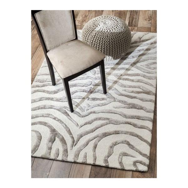 Ručně tuftovaný koberec nuLOOM Zebra Grey, 120x183 cm