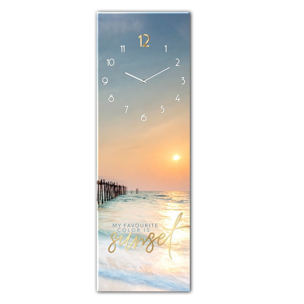 Produktové foto Skleněné nástěnné hodiny Styler Sunset, 20 x 60 cm