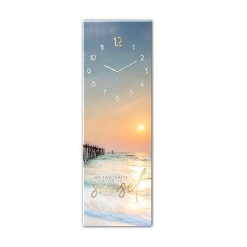 Ceas de perete din sticlă Styler Sunset, 20 x 60 cm de la Styler