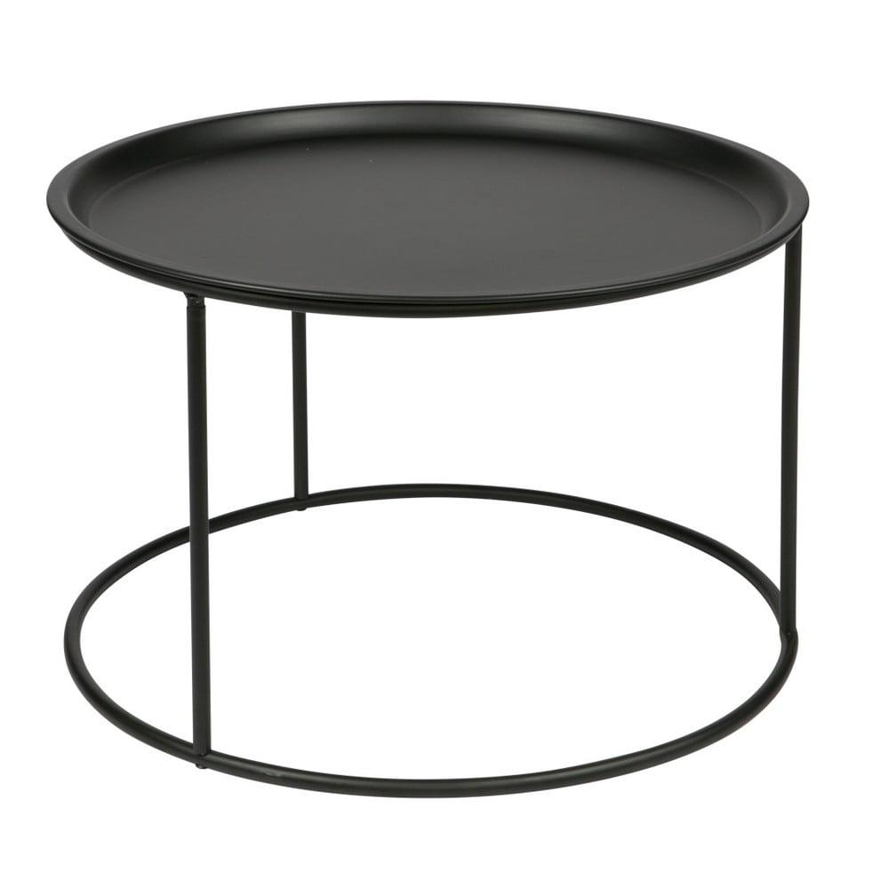 Černý odkládací stolek De Eekhoorn Ivar, Ø 56 cm