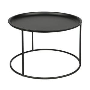 Černý odkládací stolek De Eekhoorn Ivar, Ø56cm