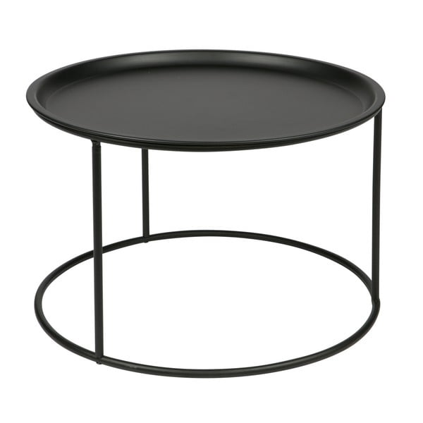 Čierny konferenčný stolík WOOOD Ivar, Ø56cm