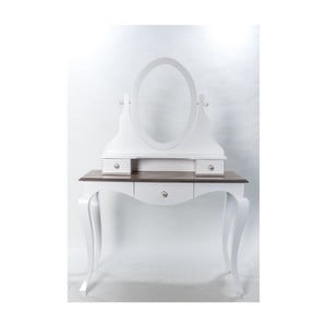 Toaletní stolek se zrcadlem Victoria, 110x54x164 cm