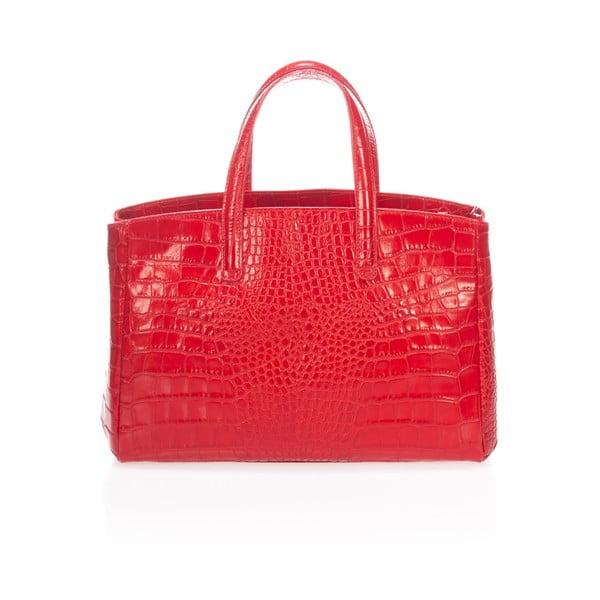Kožená kabelka Magnata, červená