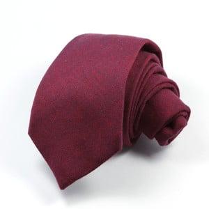 Vínová kravata chambray