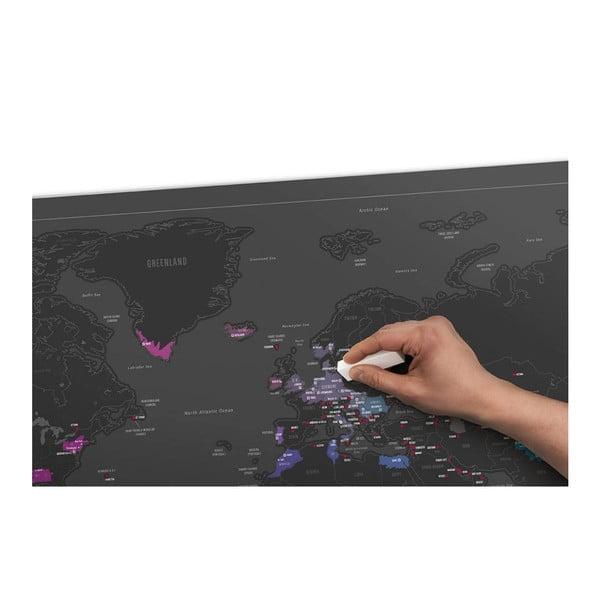 Seškrabávací mapa světa Scratch Map Capitals Edition
