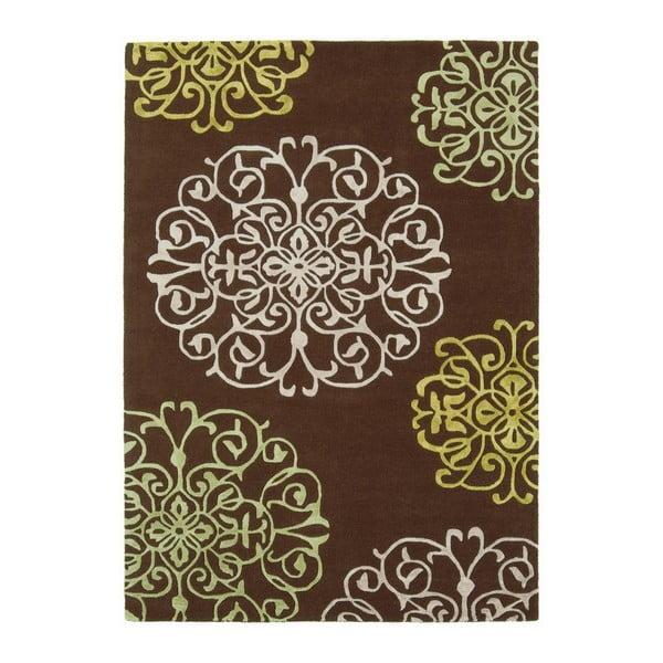 Vlněný koberec Tangier Brown 200x300 cm