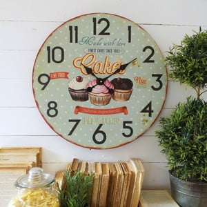 Nástěnné hodiny Orchidea Cupcakes