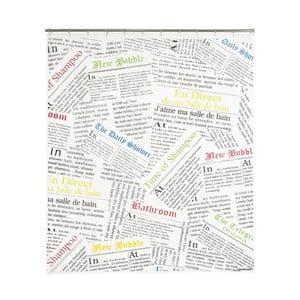 Sprchový závěs Newspaper, 200x180 cm