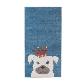 Covor pentru copii KICOTI Dog 133 x 190 cm albastru închis