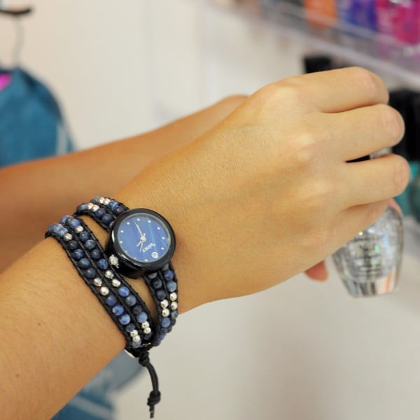 Korálkové hodinky Double, Blue Lagoon