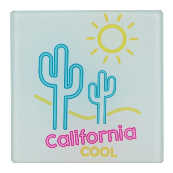 Sada 6 skleněných podtácků Le Studio California Cool