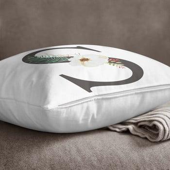 Față de pernă Minimalist Cushion Covers Floral Alphabet S, 45 x 45 cm imagine